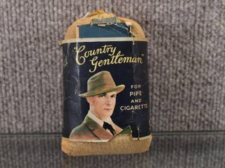 Vintage Country Gentleman Pipe and Cigarette Pouch   liggett   Myers Tobacco Co