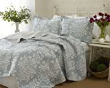 laura Ashley Rowland 3 piece Quilt Set  King