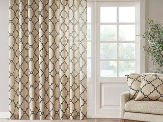 Madison Park Westmont Fretwork Print Patio Single Window Panel