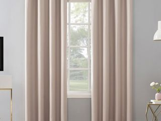 Sun Zero Niko Textured Grid Thermal Extreme 100  Total Blackout Grommet Curtain Panels  2
