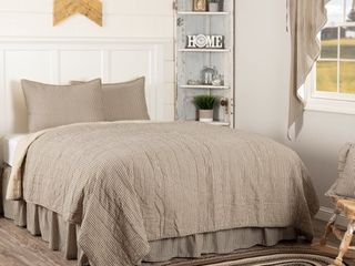 Sawyer Mill Ticking Stripe Quilt Set   3 Pieces   Cali King
