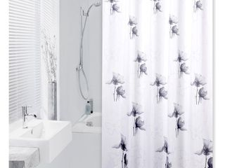 Extra long Shower Curtain 72 x 78 Inch Differnz Sopor Gray