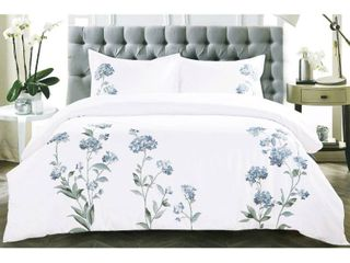 Broderie ensemble housse de couette Collection Hydrangea Embroidery Duvet Set  King