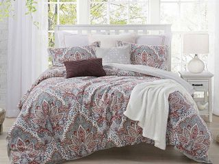 Ellen Tracy Upton Park 3 Piece Premium Cotton Duvet Cover Set   King