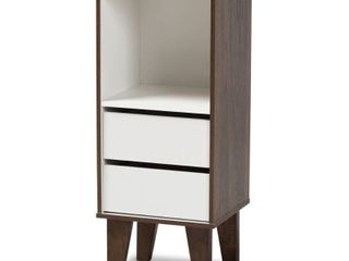 Senja Modern and Contemporary 2 Drawer Night Stand