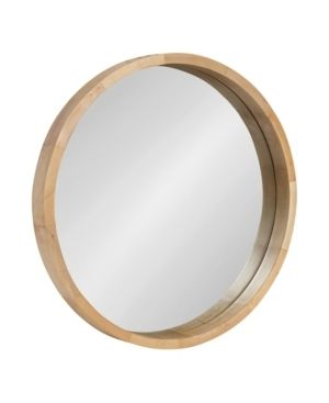22  Kate and laurel Hutton Round Wood Wall Mirror