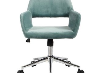 Porch  amp  Den Sabrina Velvet Home Office Swivel Chair   Cactus