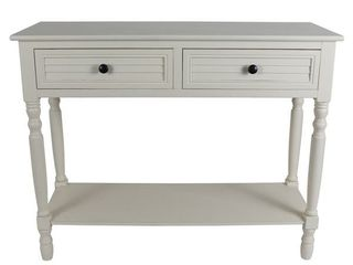Simplify Cream Shutter Style Drawer Console Table