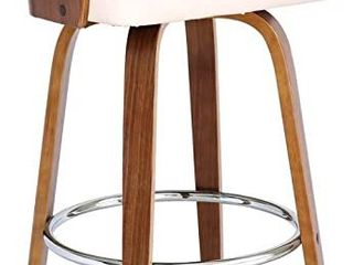 Armen living Shelly Bar Stool   Wood Cream