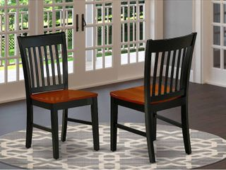 Norfolk Dining Chair w  Plain Wood Seat   Set of 2