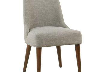 Homepop Hemet Gayle Grey Upholstered Chair