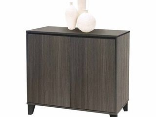 K B Furniture Oak 2 Door Accent Cabinet