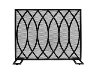 Buncombe Modern Single Panel Fireplace Screen by Christopher Knight Home