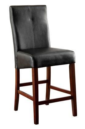 Counter Height Chair  Brown Cherry and Black