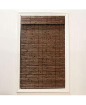 Radiance Cordless Cocoa Dockside Flatstick Bamboo Roman Shade