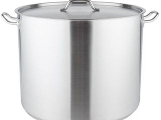 80qt Heavy Duty Stainless Steel Stock Pot