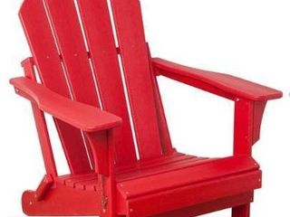laguna Outdoor Folding Patio Poly Adirondack Chair   Single Item