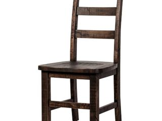 Carbon loft Morgado ladder Back Dark Brown Dining Chair