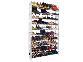Studio 707 50 Pair Shoe Rack 10 tier  White