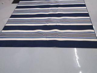 Gainesville McGregor Stripe Blue and Ivory Rug