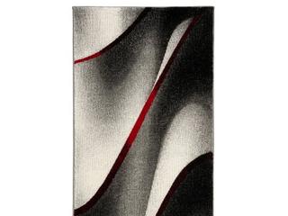 Safavieh Hollywood Jocelyne Mid Century Modern Abstract Rug   2 3  x 4    Grey Red