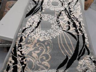 Beverly Hills runner  Grey black White light Brown design
