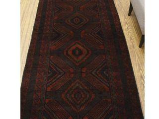 Vintage  hamide Brown red 3 4 x 11 11