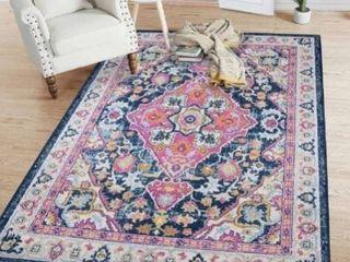 Vintage Area Rug Blue Carpet Rug for living Room Bedroom Dining Room  Retail 151 99