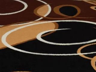 Premium Brown   Maroon  Black  White  Gold Designer Rug Made by Premium  Ebony