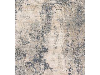 loloi II Teagan Abstract Natural   Denim Area Rug