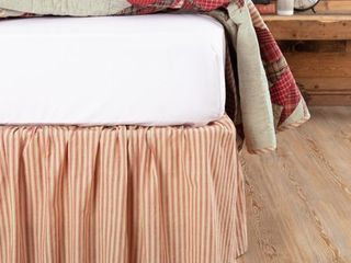 Ozark Ticking Stripe Bed Skirt   King