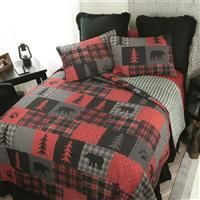 Your lifestyle by Donna Sharp Red Forest Quilt Set  King   Retail 103 49