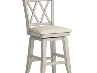 Eleanor Antique White Drop leaf Round Counter Height Dining Chair