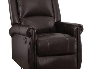 Abbyson Elena Dark Brown Swivel Glider Recliner Chair  Retail 477 99