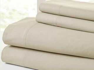 Modern Threads Vintage Washed Cotton 4 Piece Bed Sheet Set  Cal King