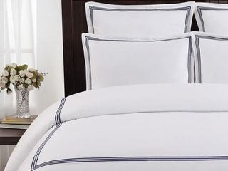 Echelon Home Three line Hotel Collection Cotton Sateen Euro Shams  Set of 2