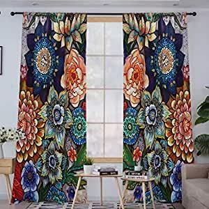 Boho Bouquet 84 Inch Blackout Window Panels