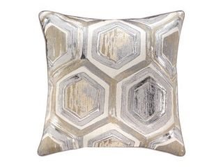 Meiling Metallic Hexagon Throw Pillow