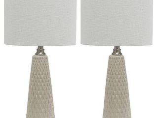 Set of Two Jameson Textured Ceramic Table lamps  Retail 83 93