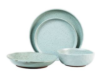 Sango kaya blue 16 piece dinnerware set