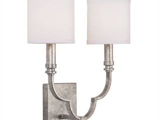 Silver Orchid Grasse 2 light Antique Silver Wall Sconce  Retail 82 49
