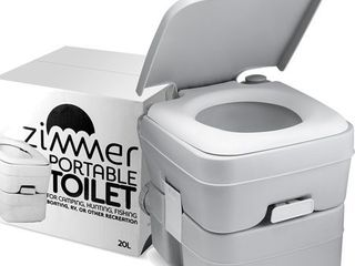 Comfort Portable Toilet 5 Gallon Capacity  RV Toilet With Detachable Tanks   Retail 78 48