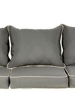 Beckworth Sunbrella Charcoal  Canvas Indoor  Outdoor Corded Pillow and Cushion