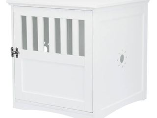 Coffee Table Style Dog Crate  white