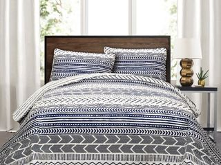 lush Decor Hygge Geo 3 Piece Quilt Set  Full Queen   Retail 102 49