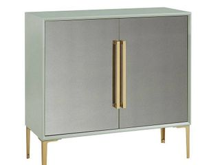 Madison Park Casa Mint 2 Door Accent Cabinet  Retail 447 49