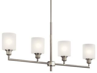 Kichler lighting lynn Haven 4 light linear Chandelier Brushed Nickel  Retail 199 99