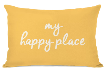 My Happy Place Dandelion   lumbar Pillow