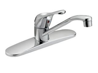 Single Handle Kitchen Faucet   Brushed Nickel Finish   6H x 10W x 9 3 in