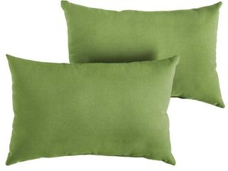 Sunbrella Spectrum Cilantro Indoor  Outdoor Pillow  Set of 2    13 in x 20 in